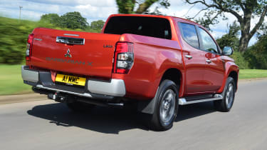 Mitsubishi L200 pickup rear 3/4 tracking