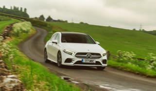 Mercedes A-Class cornering