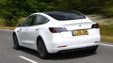 2019 Tesla Model 3 - dynamic rear 3/4 view
