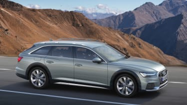 New 2019 Audi A6 Allroad estate - side view on road