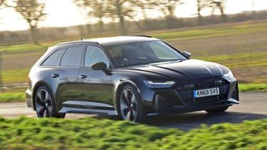 Audi RS6 Avant estate front 3/4 action