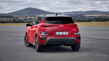 2020 Hyundai Kona N Line - rear 3/4 view static