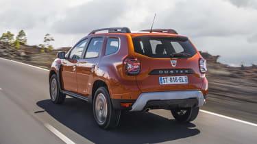 2021 Dacia Duster SUV - rear 3/4 dynamic