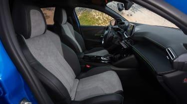 Peugeot e-208 hatchback front seats