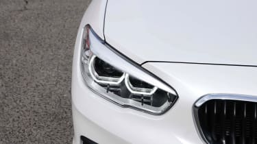 BMW's circular LED daytime running lights help distinguish it on the road