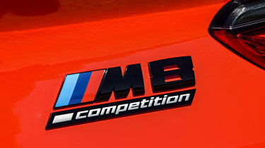 BMW M8 Competition coupe rear badge