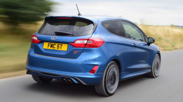 Ford Fiesta ST hatchback rear 3/4 actiion
