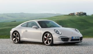 Porsche 911 50 Years Edition coupe front quarter static