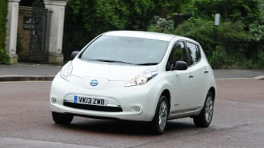 Nissan Leaf - front 3/4 view