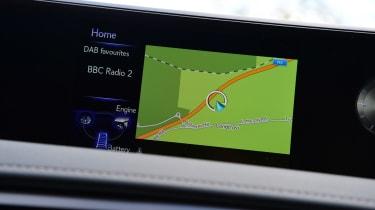 Lexus UX interior sat nav
