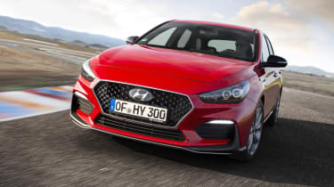 Hyundai i30 N Line front cornering view