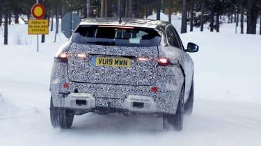 Jaguar F-Pace facelift prototype - rear view