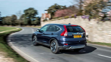 The Honda CR-V can get from 0-62mph in 11.2 seconds with 118bhp or 9.6 seconds with 158bhp