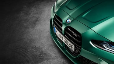 2021 BMW M3 Competition saloon - front grille close up
