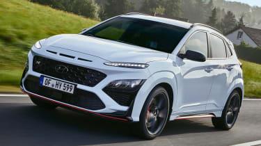 Hyundai Kona N driving