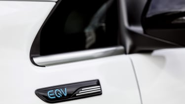 Mercedes EQV - badging close up