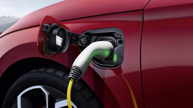 2020 Skoda Octavia vRS iV estate - charging port