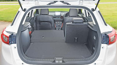 Boot space is the equivalent or greater than rivals in the CX-3's class