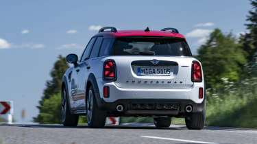 2020 MINI Countryman John Cooper Works driving - rear view
