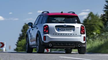 2020 MINI Countryman John Cooper Works driving - rear view