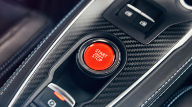 Alpine A110 coupe start button
