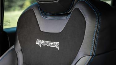 Ford Ranger Raptor pickup front seats