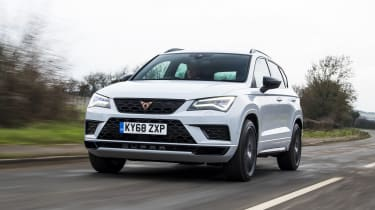 Cupra Ateca SUV - front 3/4 dynamic view