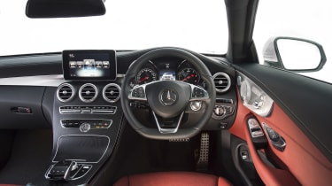 The interior is well built, attractive and comfortable, sharing many traits with the C-Class saloon