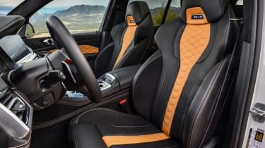 BMW X5 M SUV front seats