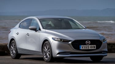 Mazda3 Fastback saloon front 3/4 static