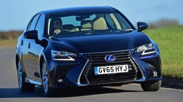 The Lexus GS is effortlessly relaxing to drive, though it's not as involving as the BMW 5 Series