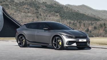2021 Kia EV6 e-GT - front 3/4 view