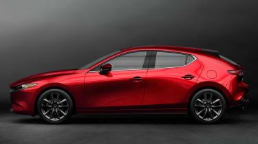 2019 Mazda3 hatchback side