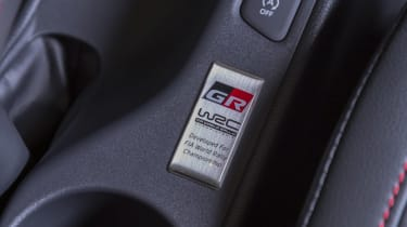 Toyota GR Yaris hatchback WRC badge