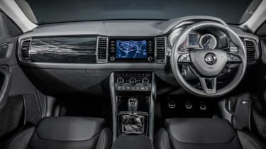 The new Skoda Kodiaq's interior design uses many familiar Volkswagen Group styling cues