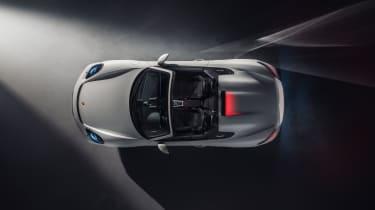 Porsche 718 Boxter Spyder - top side view