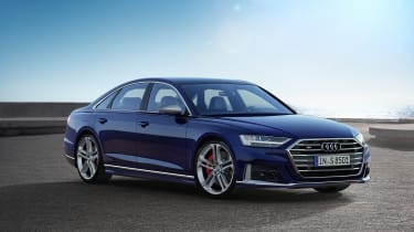 2019 Audi S8 static 3/4 front