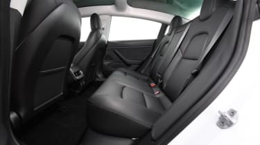 Tesla Model 3 Long Range saloon rear seats