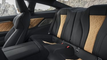 BMW M8 Competition coupe - rear seats