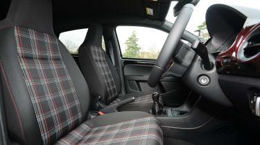 Volkswagen up! GTI hatchback front seats