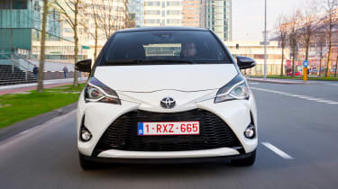 Toyota Yaris front close up