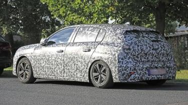 2021 Peugeot 308 prototype - rear 3/4 view static