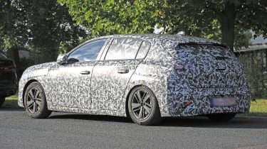 2021 Peugeot 308 prototype - rear 3/4 view static