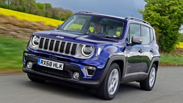 Jeep Renegade driving