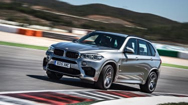 The BMW X5 M is a powerful version of the X5 family SUV with the acceleration of a sports car