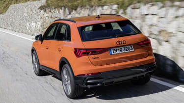 The entry-level petrol-powered Audi Q3 has a 148bhp 1.5-litre turbo engine.