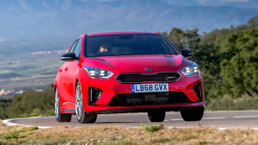 kia ceed gt front driving