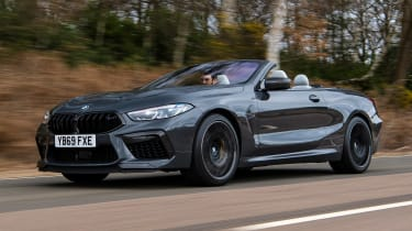 BMW M8 Convertible front 3/4 tracking