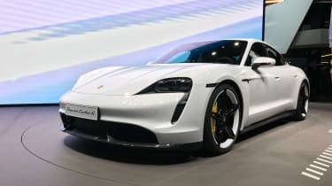 Porsche Taycan - Front 3/4 at Frankfurt