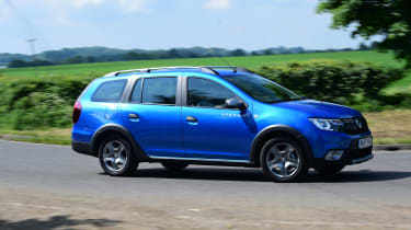 The MCV stands for 'Maximum Capacity Vehicle' – the Logan Stepway backs this up with a huge 573-litre boot